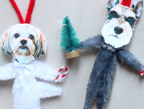 diy dog photo ornament
