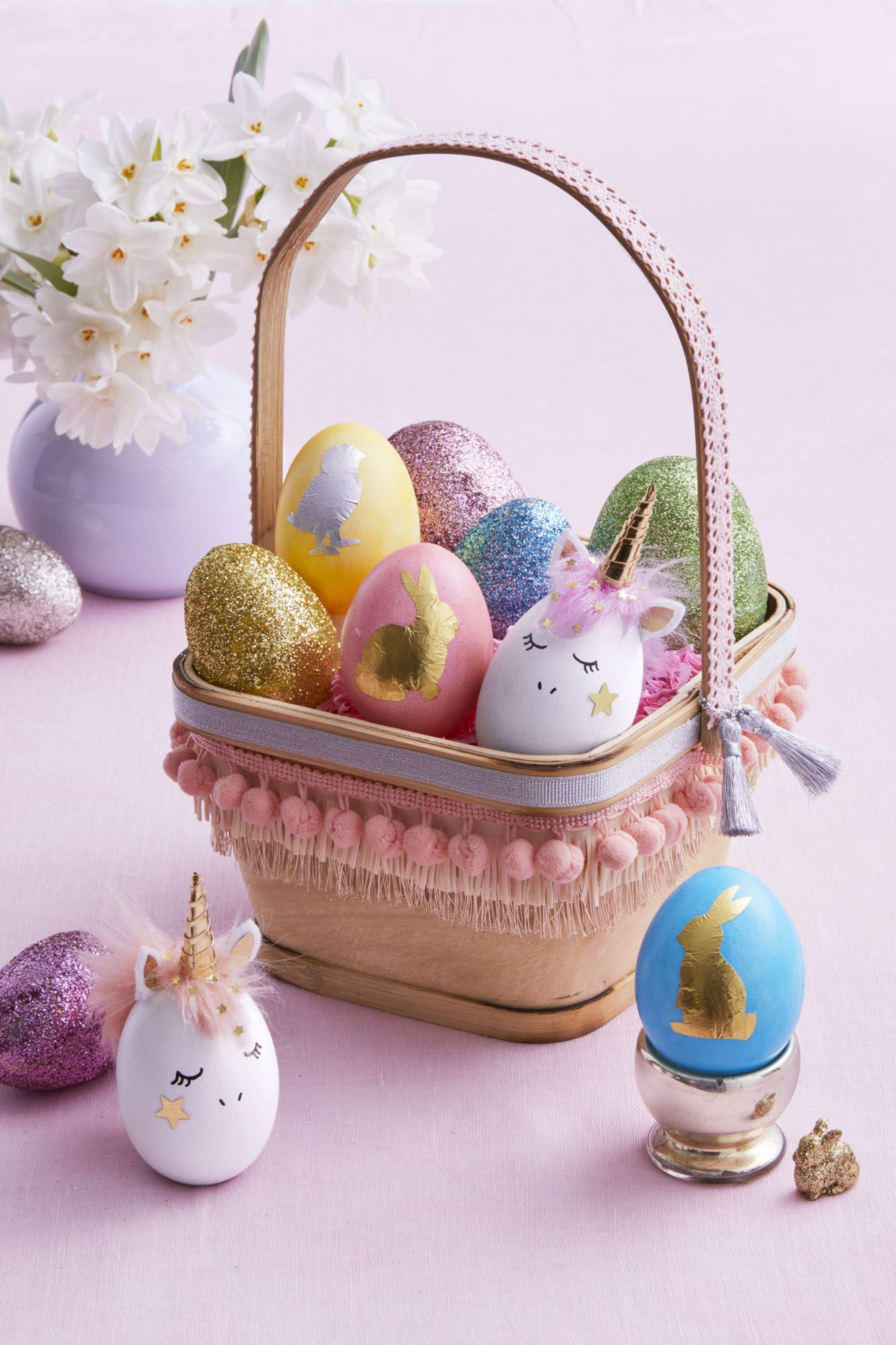 diy easter baskets fringe
