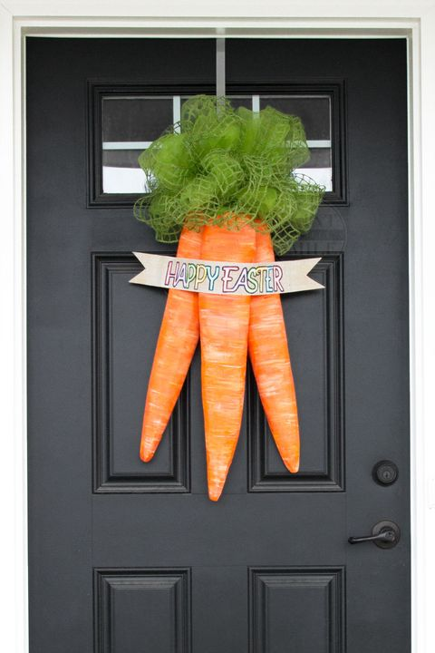 easter carrot door hanger