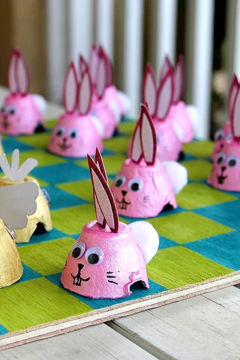 easter games for kids - diy easter checkers