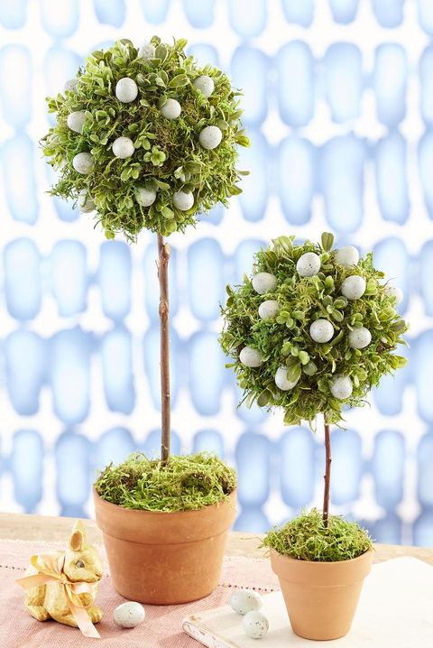 diy easter trees  easter egg topiaries