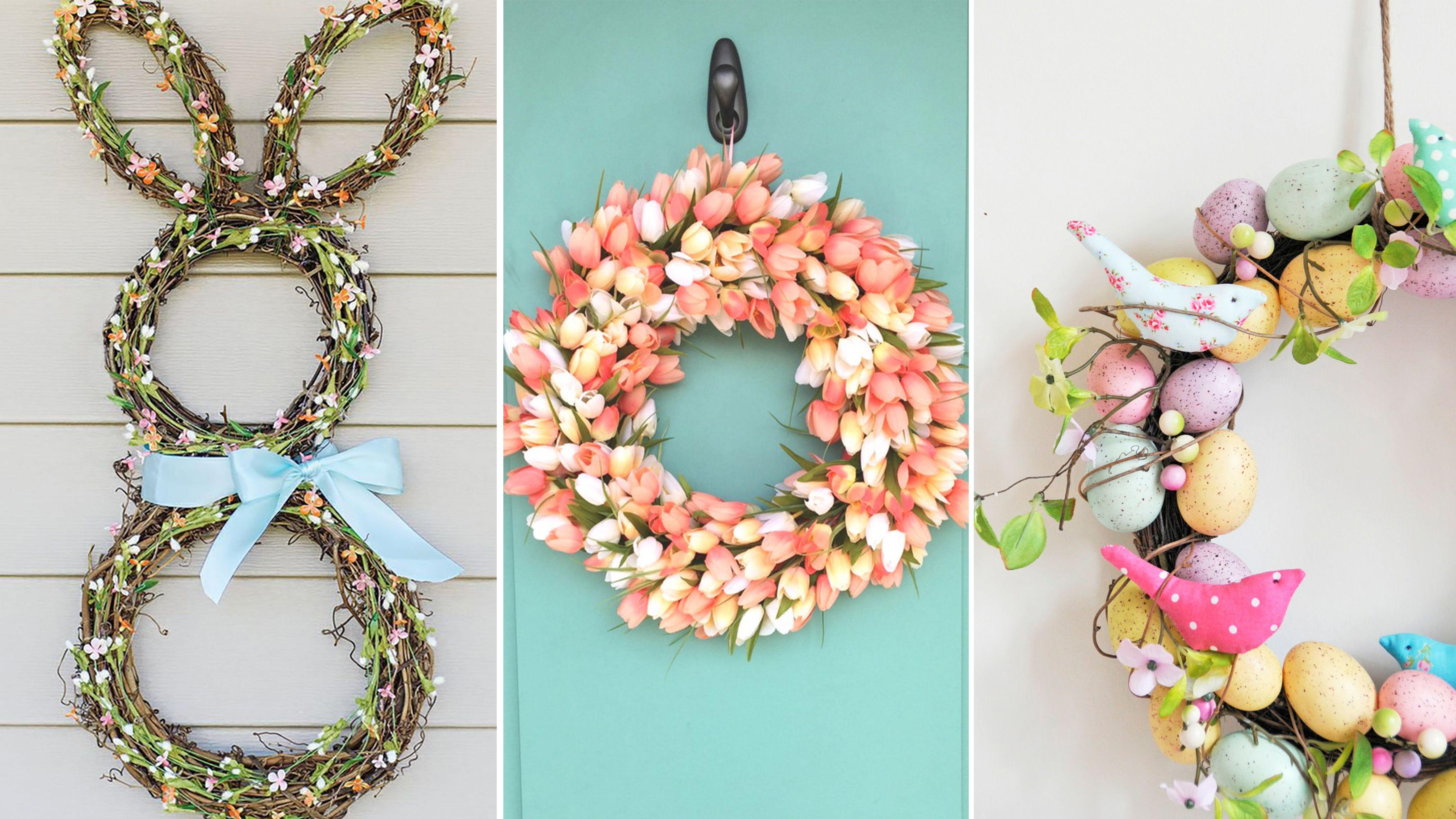 diy easter wreaths & 17 DIY Easter Wreath Ideas - How to Make a Cute Easter Door Wreath