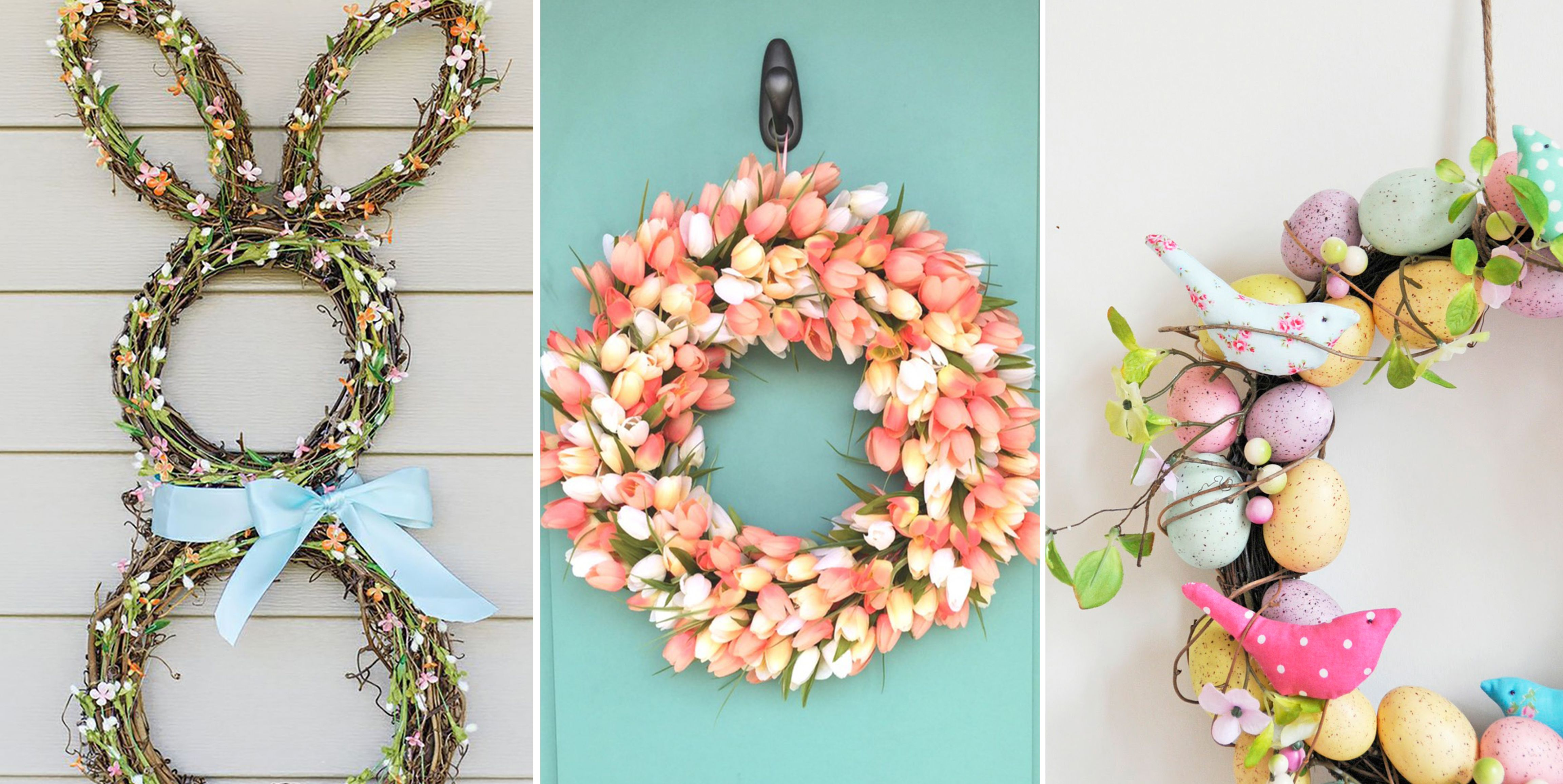 17 DIY Easter Wreath Ideas - How to Make a Cute Easter