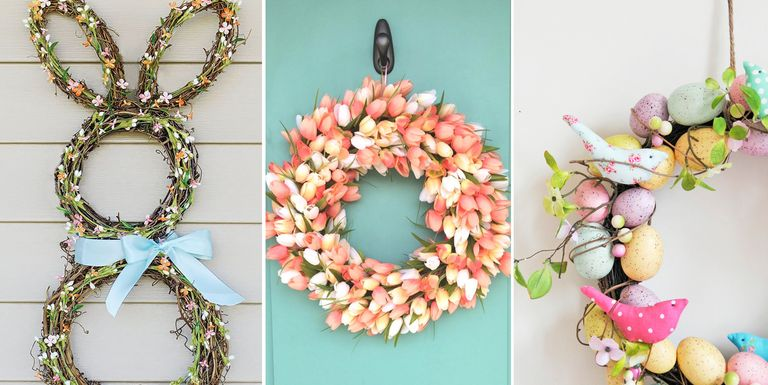 17 DIY Easter Wreath Ideas - How to Make a Cute Easter Door Wreath