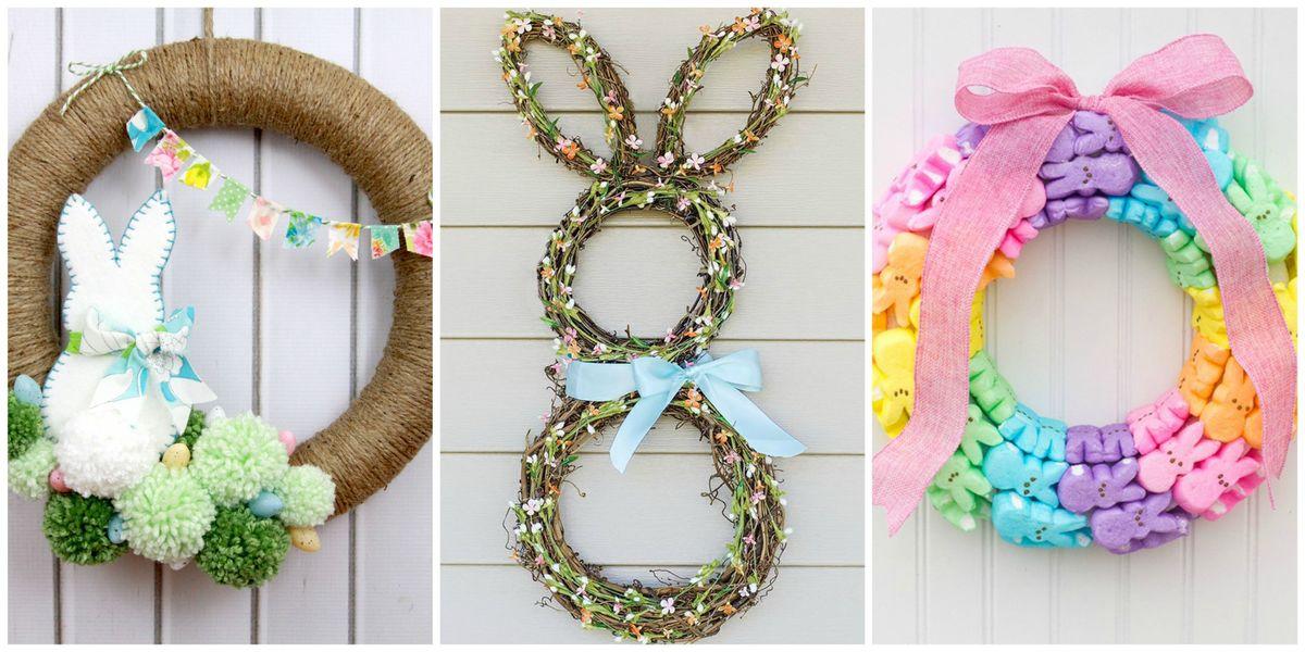 14 diy easter wreaths to make this spring homemade easter door wreath crafts - Trabajos de manualidades desde casa fiables ...