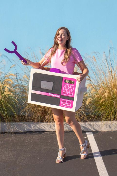 woman dressed as an easy bake oven