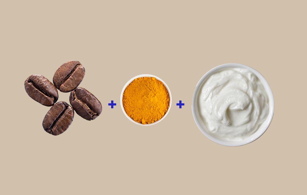 coffee turmeric yogurt face mask