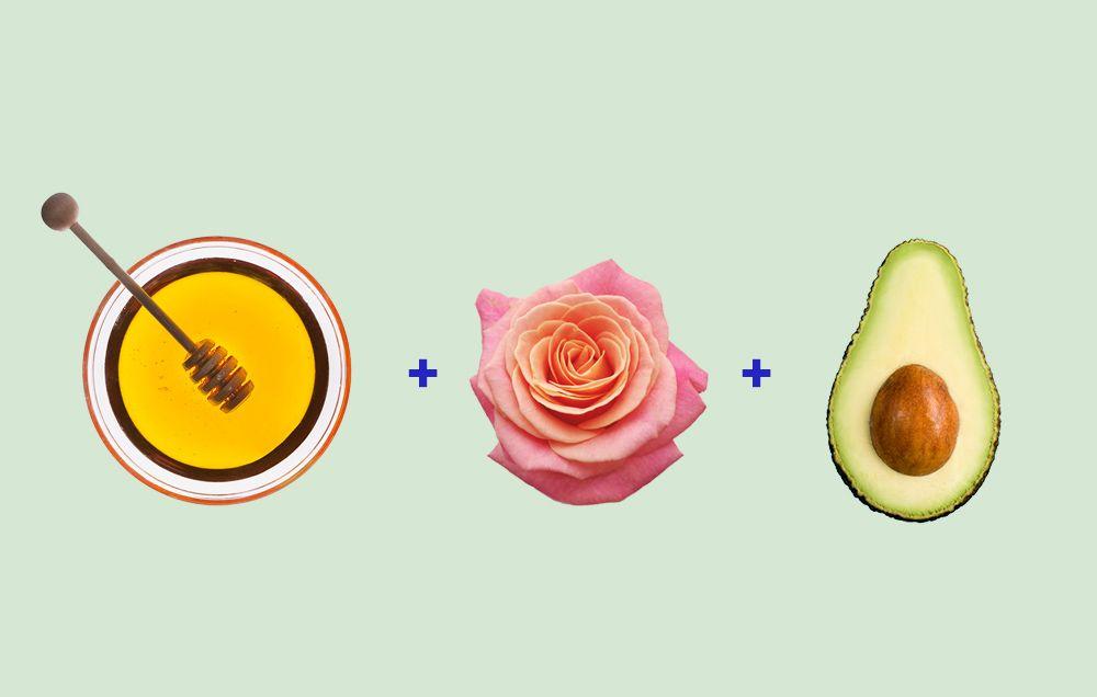 honey rosehip avocado face mask