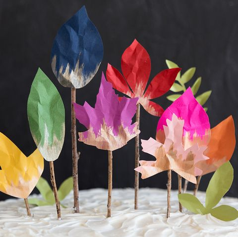 leaf cake topper   leaf craftleaf art for kids