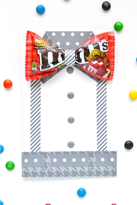 diy fathers day gifts   mm bow tie card