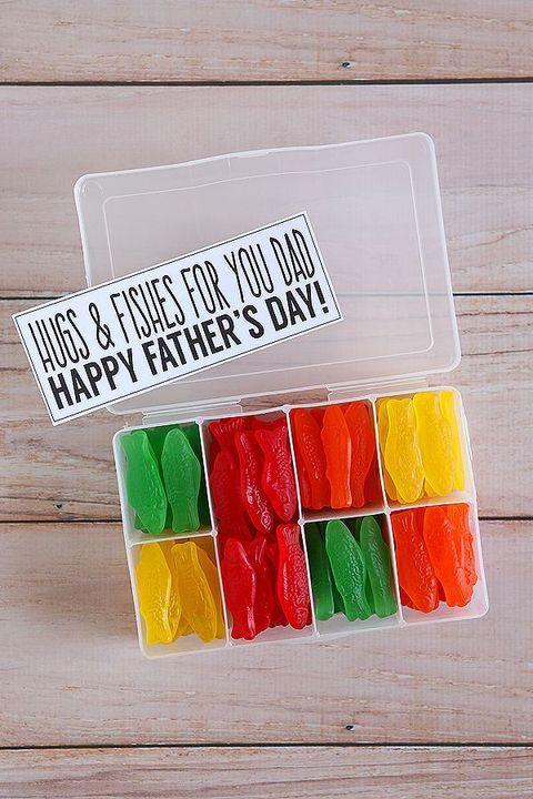 diy fathers day gifts   swedish fish box
