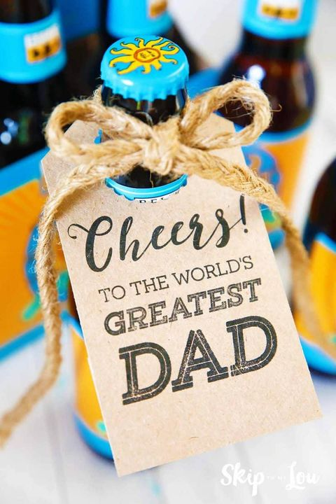 diy fathers day gifts bottle tags