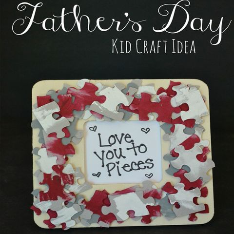 diy fathers day gifts love you to pieces puzzle frame