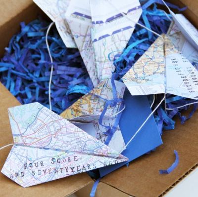 diy fathers day gifts paper airplane garland