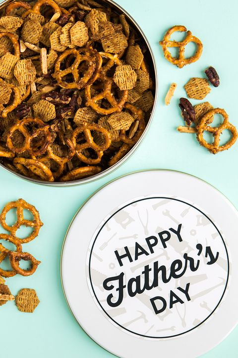 diy fathers day gifts snack tin