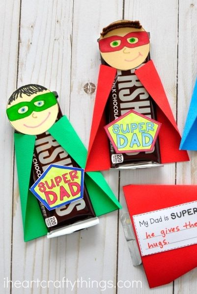diy fathers day gifts   super dad candy gift