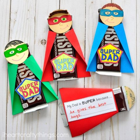 diy fathers day gifts superdad chocolate bars