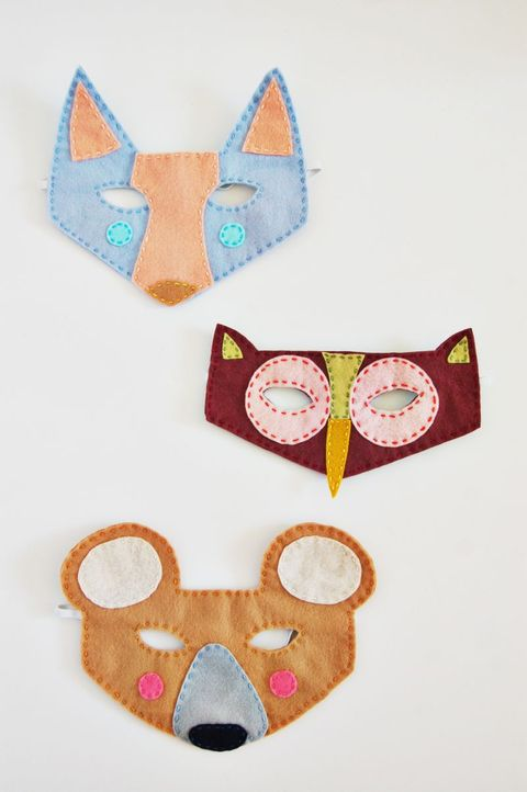 diy woodland halloween masks