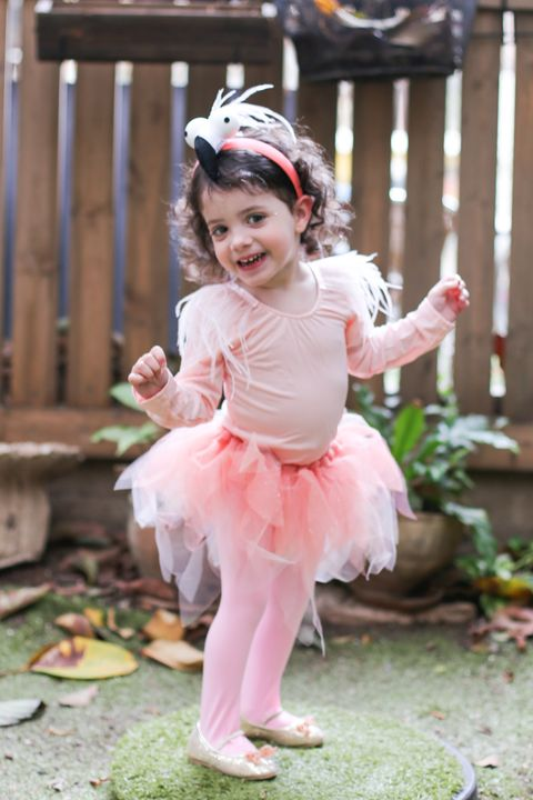 diy flamingo costume for kids