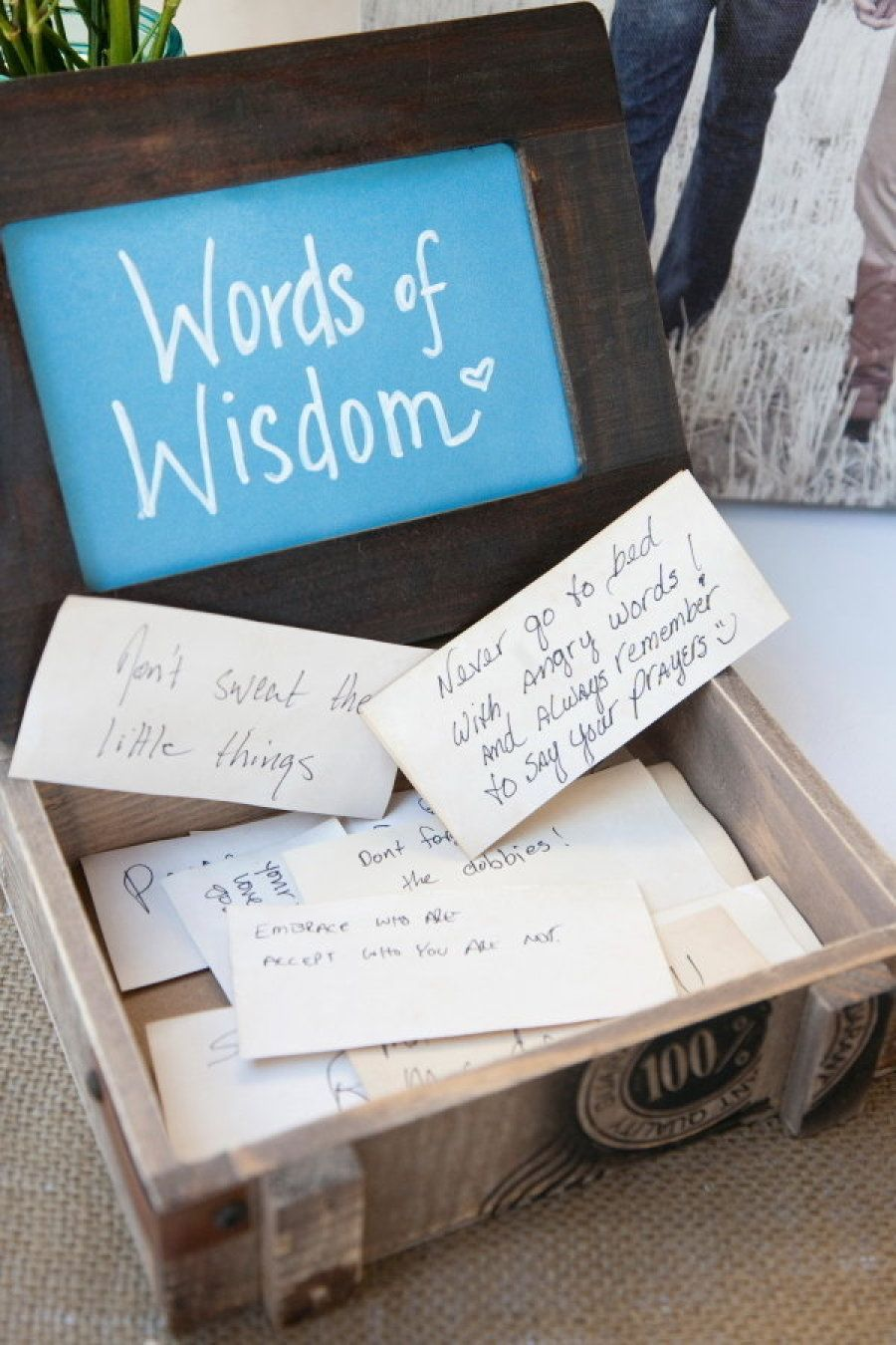 words of wisdom box