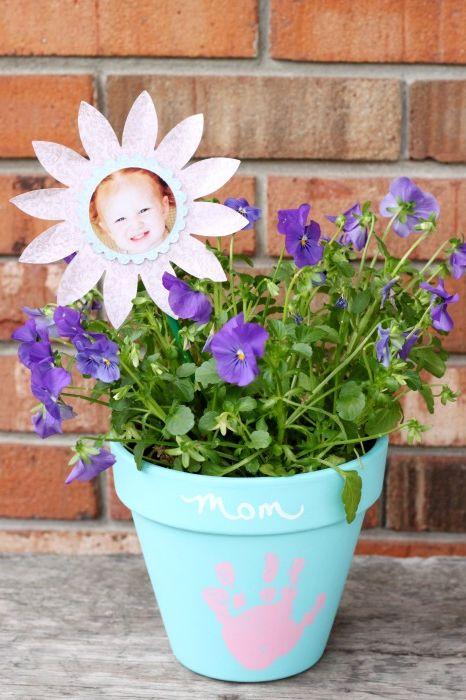 diy flower pot mothers day craft for kids