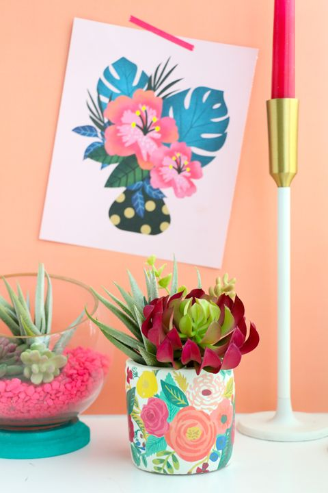 DIY Kids Activities -  Tattoo Print Planter