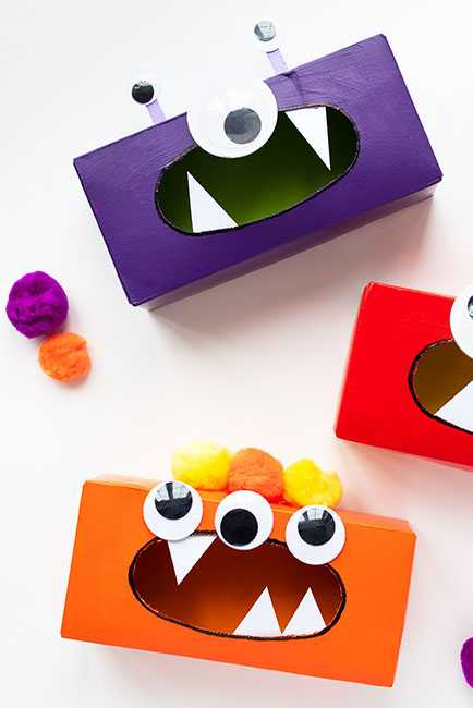 DIY Kids Activities - Tissue Box Monsters