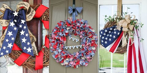 20 Diy 4th Of July Wreaths Easy Ideas For Fourth Of July Wreath Crafts