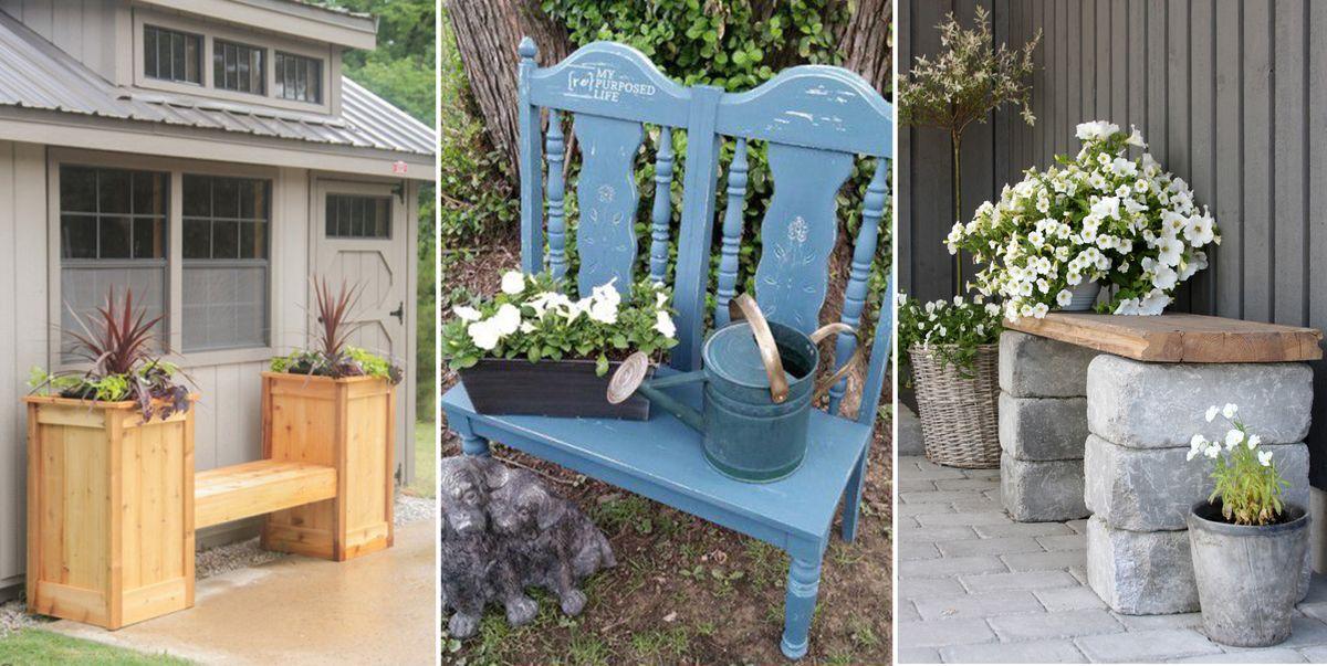 18 diy garden bench ideas free plans for outdoor benches - Diy Patio Bench