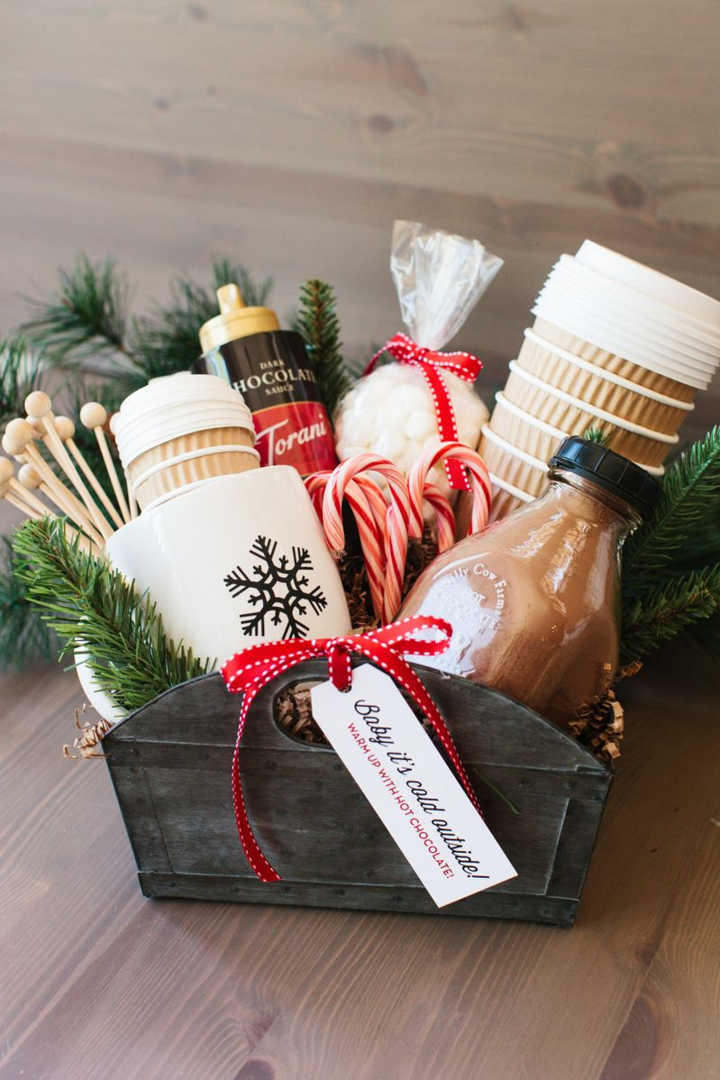 diy gift basket hot cocoa