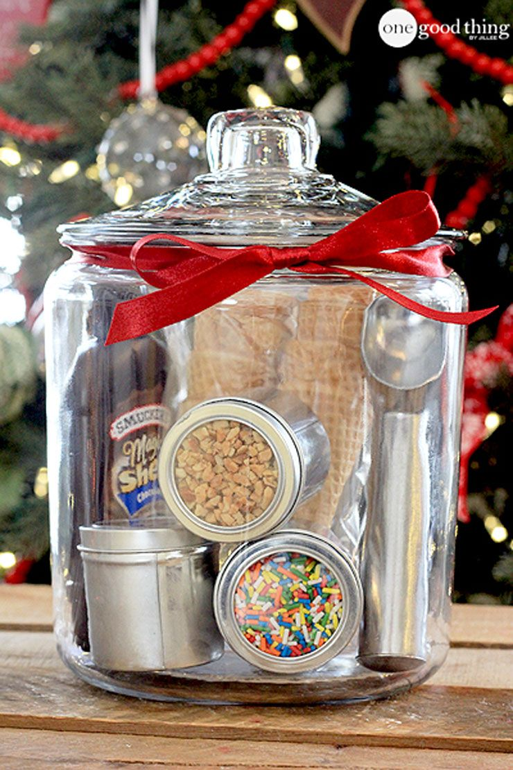 diy gift basket ice cream party