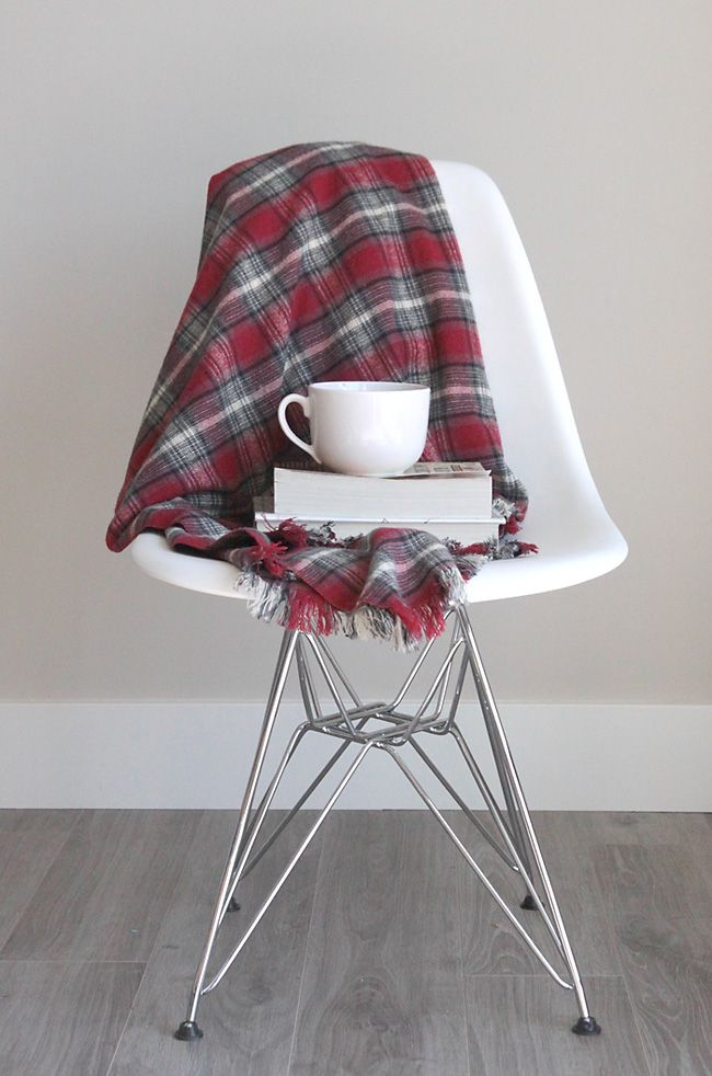 diy gifts for dad fringed flannel throw blanket