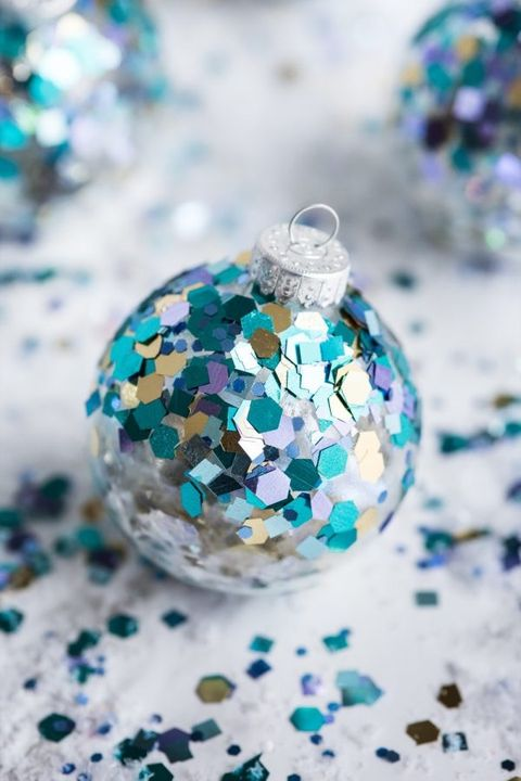 ball diy glitter ornaments