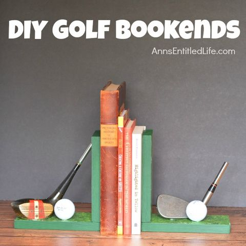 Gold Bookends - Father's Day crafts