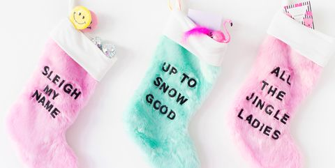 27baaeb34 18 Unique Christmas Stockings - Best DIY Ideas for Holiday Stockings