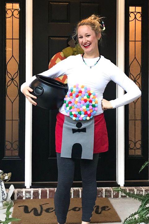 diy gumball machine pregnant halloween costumes