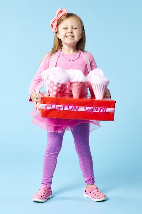 diy halloween costumes for kids cotton candy salesperson