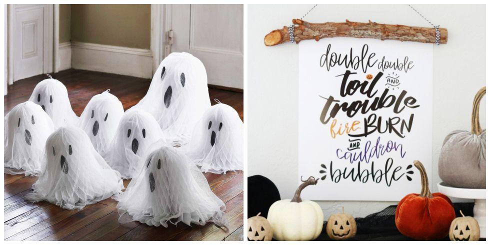 easy diy halloween decorations & 45 Easy DIY Halloween Decorations - Homemade Do It Yourself ...
