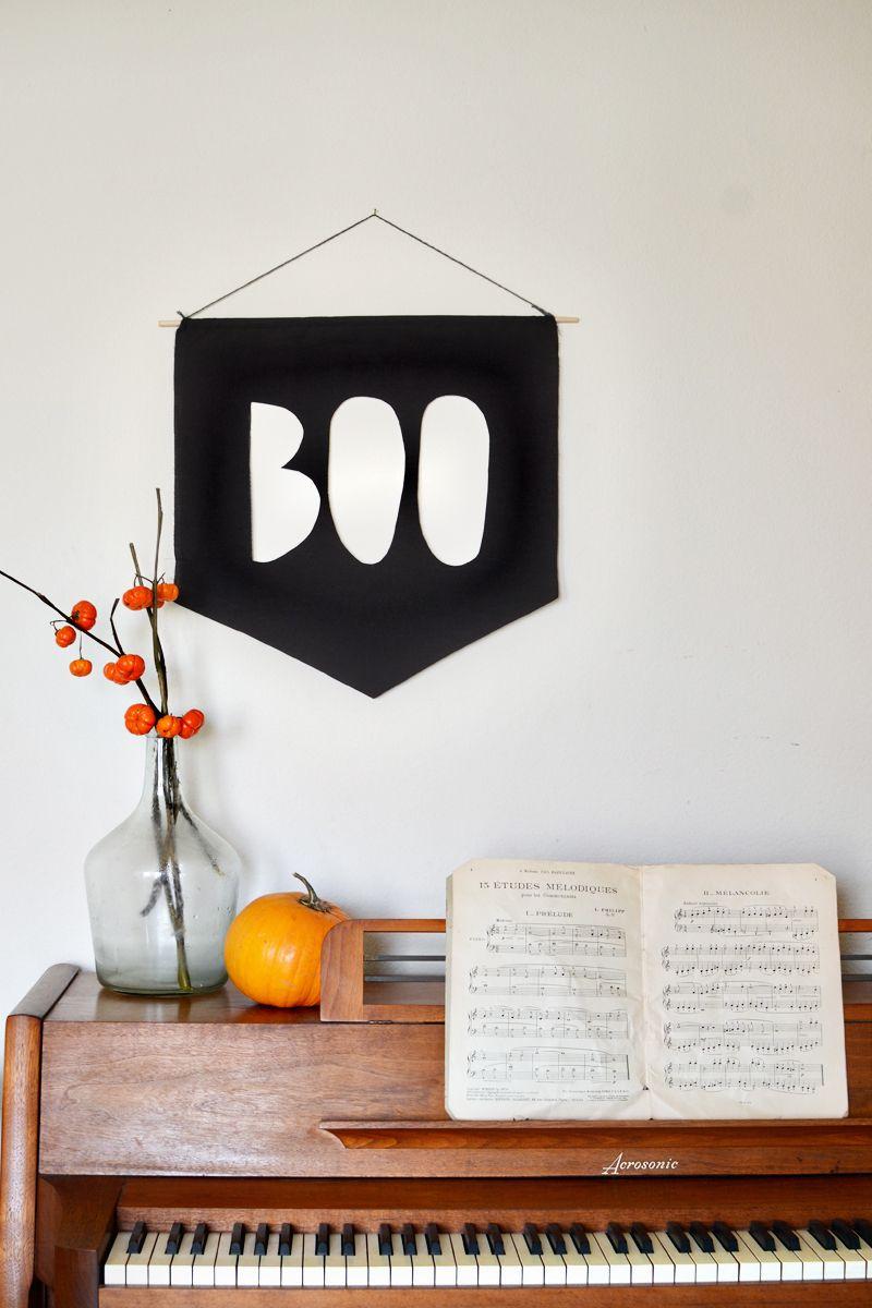 diy halloween decoration boo banner