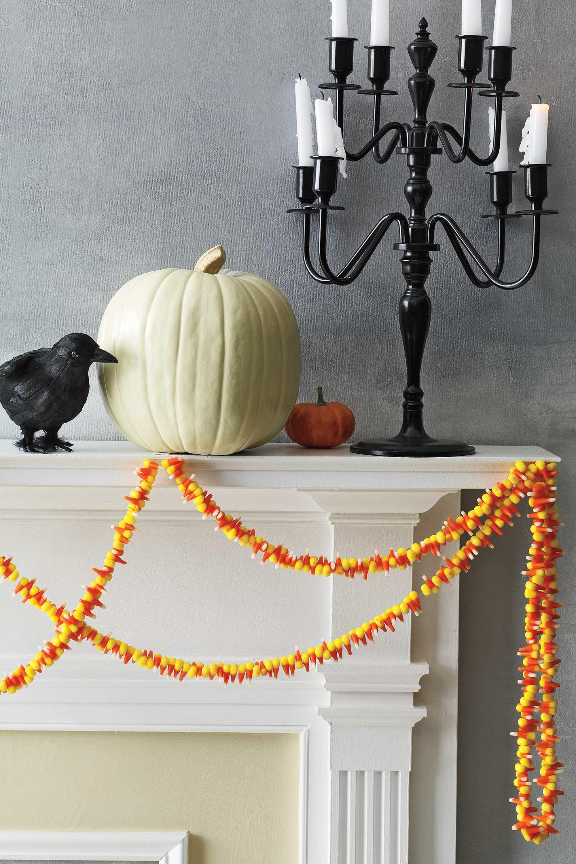 diy halloween decoration candy corn garland
