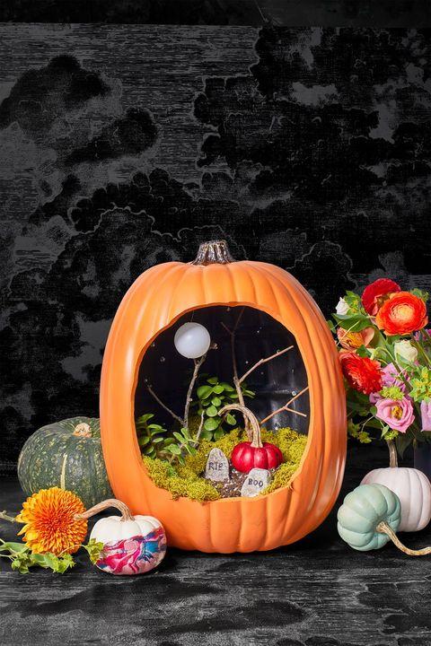 diy halloween decorations pumpkin diorama