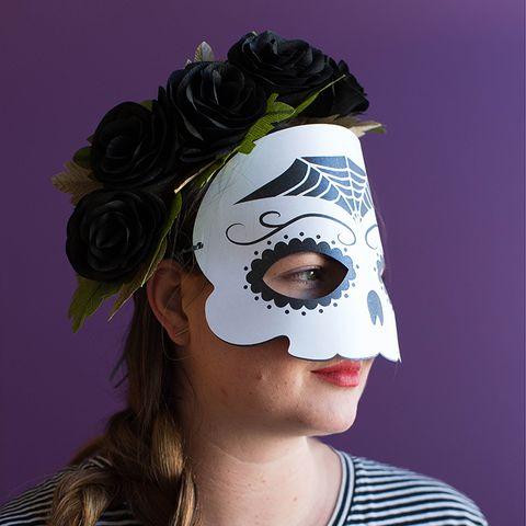 Simple Halloween Masks.26 Best Diy Halloween Mask Crafts How To Make Halloween Masks