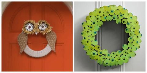 a2905dc0305fc 37 DIY Halloween Wreaths - How to Make Halloween Door Decorations Ideas