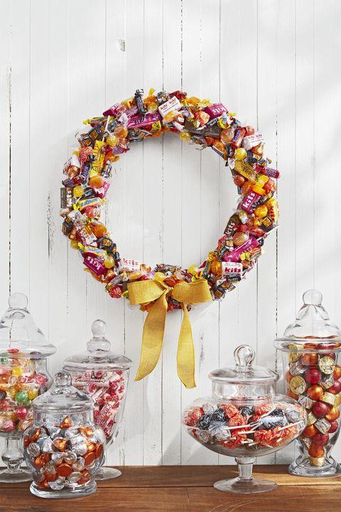 diy candy halloween wreaths