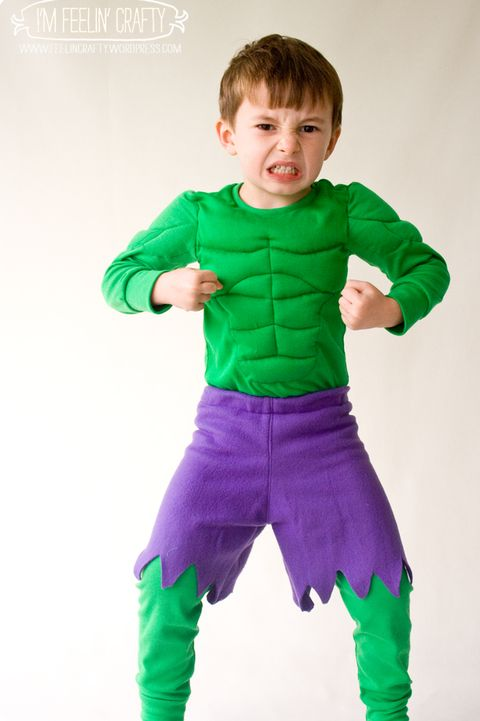 hulk superhero halloween costume diy