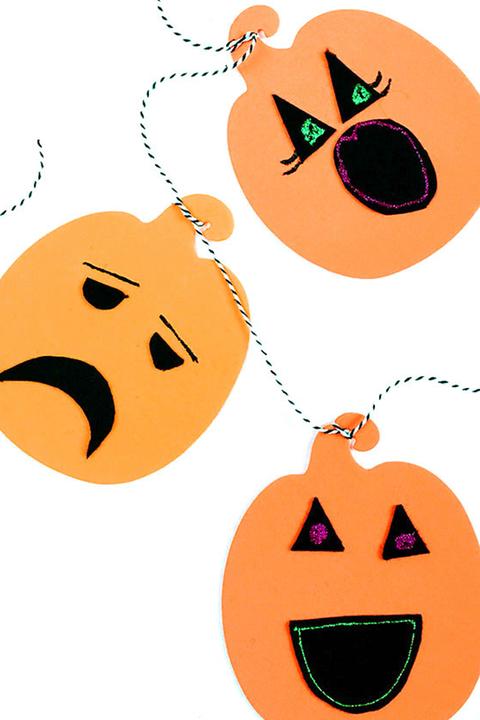 jack o lantern garlands kids crafts halloween