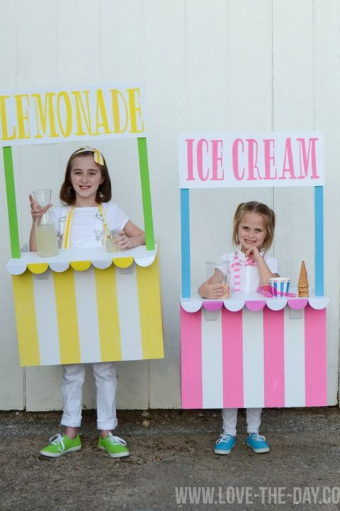65 homemade halloween costumes for kids easy diy kids halloween lemonade ice cream stand halloween costumes solutioingenieria Images