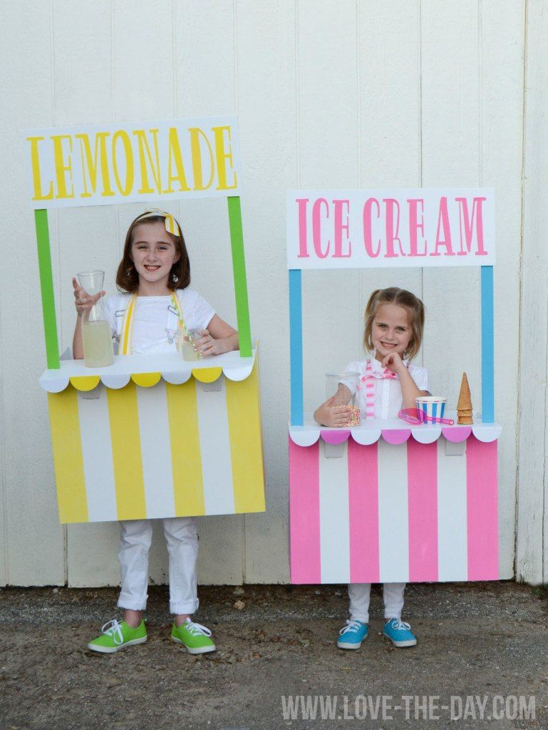 lemonade ice cream stand halloween costumes  sc 1 st  Country Living Magazine & 65+ Homemade Halloween Costumes for Kids - Easy DIY Kids Halloween ...