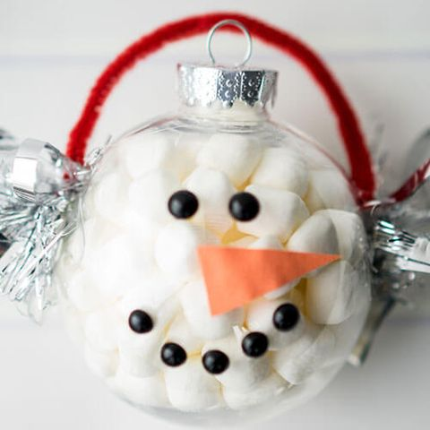 DIY Marshmallow Snowman Ornament