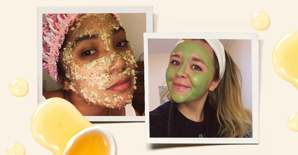 5 ELLE Editors Tried DIY Face Masks Using Pantry Ingredients—Here
